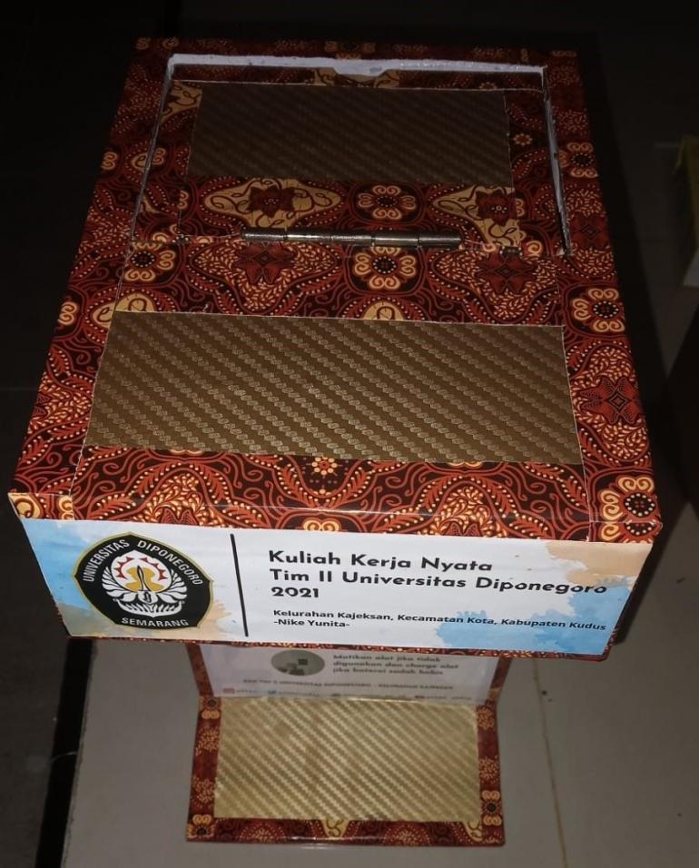 Box Hand Sanitizer Otomatis (Sumber : Penulis)