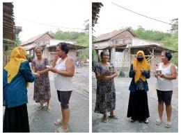 Pembagian racikan wedang uwuh kepada beberapa warga Kelurahan Bendan Duwur RW 06/dokpri