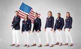 Seragam pakaian kontingan USA di Olimpiade Tokyo 2020 /Twitter /@amyOscorpio