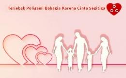 Ilustrasi Terjebak Poligami Bahagia Karena Cinta Segitiga. Sumber Gambar : Freepik/diolah pribadi