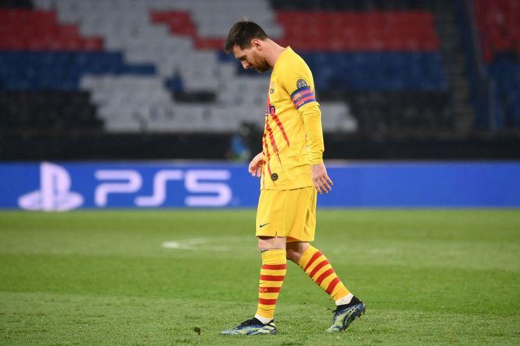 Akhir karier Messi di FC Barcelona   Sumber gambar : kompas.com