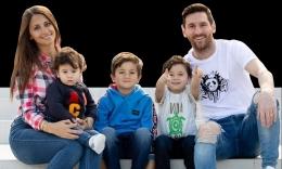 Lionel Messi dan Keluarganya. Sumber: www.messi.com