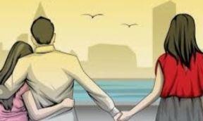 Ilustrasi cinta segitiga (dok.newsnesia.id)