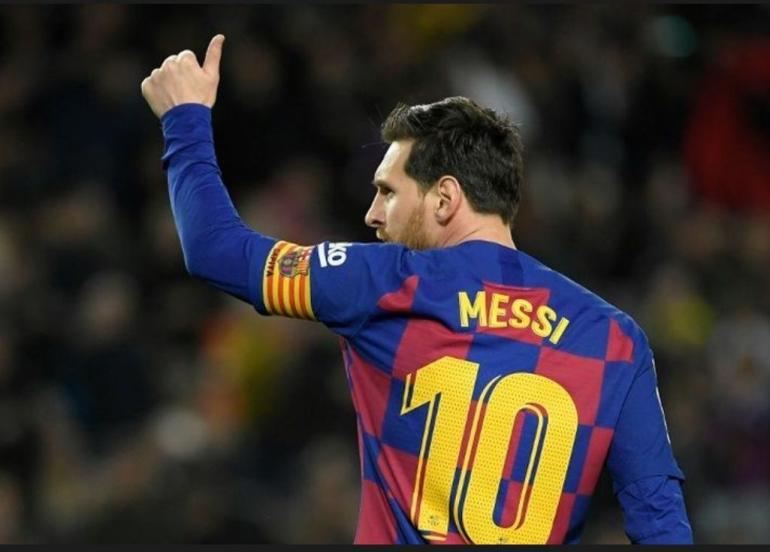 Lionel Messi. Foto: AFF/LLuis Gene via Kompas.com