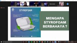Gambar 2. Webinar Online tentang bahaya dan pengolahan limbah styrofoam/dokpri