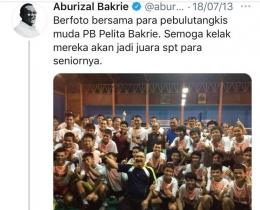 Twitter Aburizal Bakrie