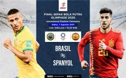 Foto Ilustrasi : Skor.id (Laga final cabang olahraga bola antara Brazil melawan Spanyol)