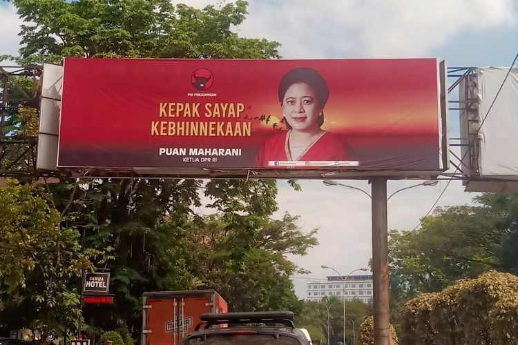 Spanduk Tokoh Partai (Kompas.com )