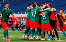 Meksiko merayakan kemenangan atas Jepang. (via today.in-24.com)