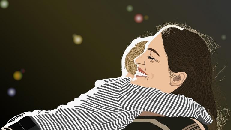 ilustrasi ibu dan anak. (sumber: pixabay.com/DikaRukmana)
