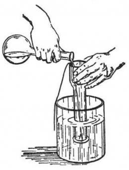 Cairan menekan ke atas. Sumber: buku Physics for Entertainment, Book 1, hlm. 79.