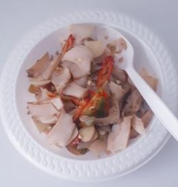 Anyang Abalone siap untuk dimakan dengan nasi(dok pribadi)