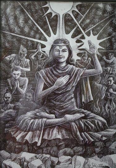 Semburat Putih Pelangi Kasih (Lukisan Bp.Y.P Sukiyanto)-Dokpri