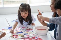 Ilustrasi anak melukis  Sumber: Shutterstock via Kompas.com