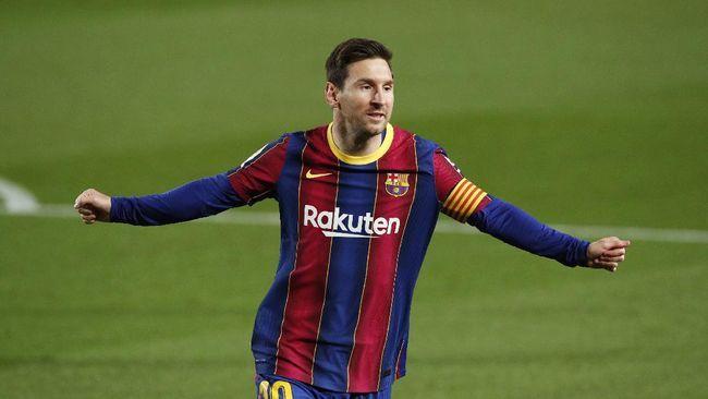 Lionel Messi harus pergi dari Barcelona karena perseteruan Laporta dan Tebas (Foto REUTERS/Albert Gea)