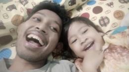 Seorang anak bisa menjadi anak yang hebat karena peran bapak dalam hidupnya. Sumber: Dokumentasi pribadi