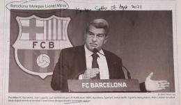 Joan Laporta, FC Barcelona. Sumber: Kontan Sabtu, 07 Agustus 2021.