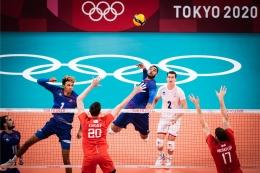 Earvin Ngapeth, outside hitter Prancis raih gelar MVP voli indoor putra Olimpiade 2020 | Sumber: en.volleyballworld.com