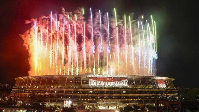 Pesta penutupan Olimpiade Tokyo 2020 (AP/Kiichiro Sato)