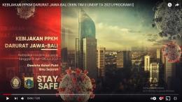 Gambar 1. Video Sosialisasi Kebijakan PPKM/dokpri