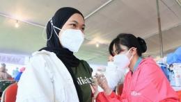 Vaksinasi massal yang digelar di Surabaya (foto: Instagram Dishub Surabaya)