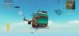 Tidak menggunakan pesawat, sebelum ke zona perang Sausage Man menggunakan bus terbang (Foto: Dokumen Pribadi).