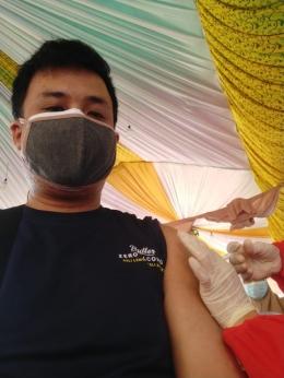 Wajib Vaksinasi menjadi salah satu aturan wajib pemerintah untuk mengurangi jumlah korban Covid-19 (Foto: Dokumen Pribadi).