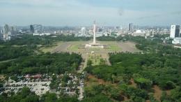 Jakarta dari Atas Gedung Perpusnas / Dokpri