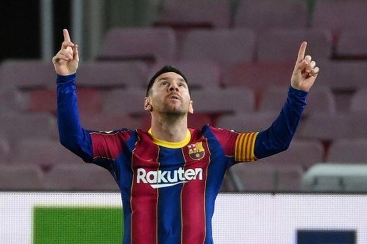 Lionel Messi, Mantan Pemain Barcelona. Sumber foto: AFP/Lluis Gene via Kompas.com