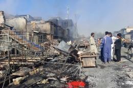 Situasi kota Kunduz pasca direbut kembali oleh Taliban. Photo: Abdullah Sahil/AP