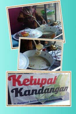 Ketupat Kandangan Jl.P.Antasari Samarinda (Dok.Pri Siska Artati, olah foto inCollage)