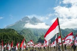 Ilustrasi Indonesia, bendera merah putih. (sumber: Shutterstock via kompas.com)