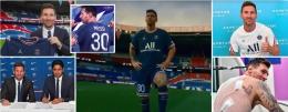 Momen-momen Messi sebagai pemain baru PSG: Dailymail.co.uk