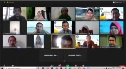 Pelatihan virtual yang diikuti olh guru-guru seluruh Indonesia/dokpri