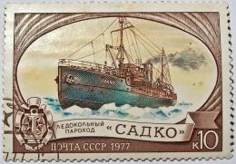 Sadko. Sumber: https://commons.wikimedia.org/wiki/File:Brand_Soviet_icebreaker_Sadko_1977.jpg