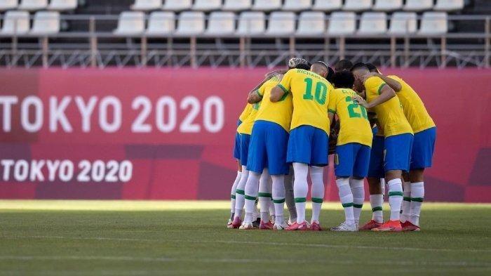 Timnas Brazil, peraih medali emas Olimpiade 2020. (via Instagram @cbs_futebol)