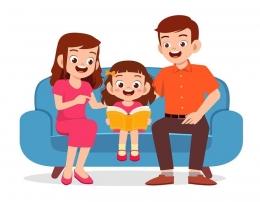 Orangtua dan anak (sumber: fisipol.uma.ac.id)