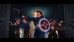 Mirror scene dengan Steve Rogers saat jadi Captain America. Sumber : Disney+