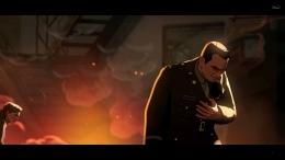 Colonel Phillips tertembak. Sumber : Disney+