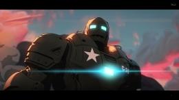 Iron Man tercipta lebih awal, penciptanya adalah Howard Stark, ayah dari Tony Stark. Sumber : Disney+