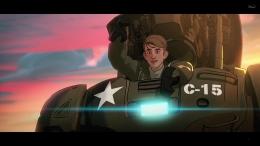 Steve Rogers memberikan sorakan kepada Captain Carter. Sumber : Disney+
