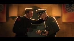 Momen berbeda saat Red Skull menembak utusan Hitler. Sumber : Disney+