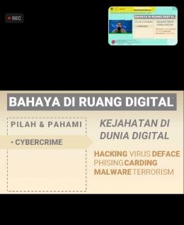 Sumber Doc Pribadi: Bahaya Di Ruang Digital dengan judul kejahatan di dunia digital.