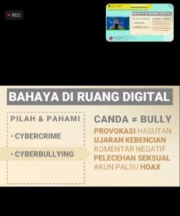 Sumber Doc Pribadi: Dengan Materi Bahaya Di Ruang Digital.