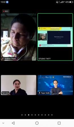Sumber Doc Pribadi: Kegiatan Zoom Meeting.