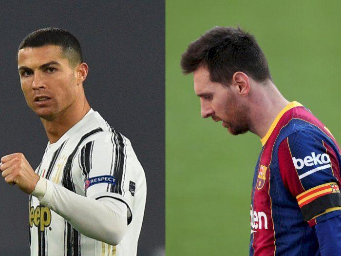 Cristiano Ronaldo (kiri), Lionel Messi (kanan). (REUTERS/MASSIMO PINCA/ALBERT GEA via indozone)