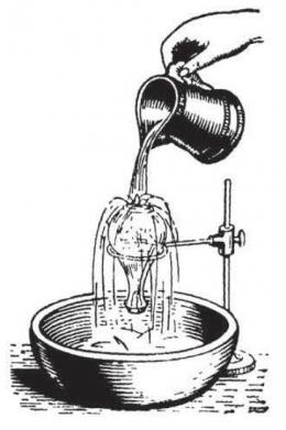 Air mendidih dalam sebuah toples setelah dituangi air dingin. Sumber: buku Physics for Entertainment, Book 2, hlm. 149.