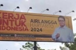 baliho politis Airlangga Hartarto, sumber gambar kompas.com