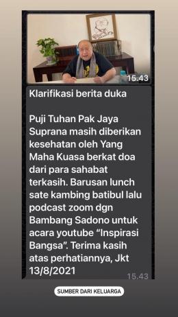 Dokpri. Sumber: Melalui pesan Whatsapp