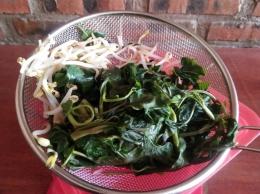 Sayuran segar yang direbus (Dokpri)